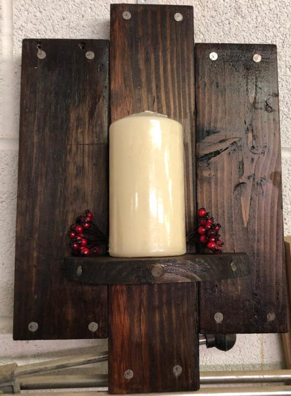 candle holder wall plaque