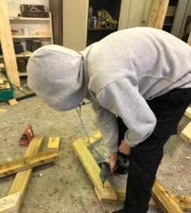 assembling the bench frame
